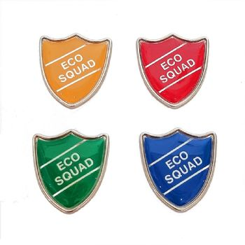 ECO SQUAD shield badge